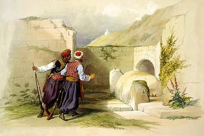 Photograph - Tomb Of Joseph At Shechem 1839 by Munir Alawi
