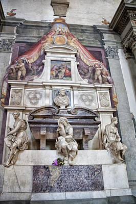 Photograph - Tomb Of Michelangelo by Melany Sarafis