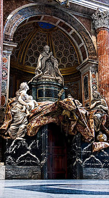 Photograph - Tomb Of Pope Alexander Vii By Bernini by Weston Westmoreland