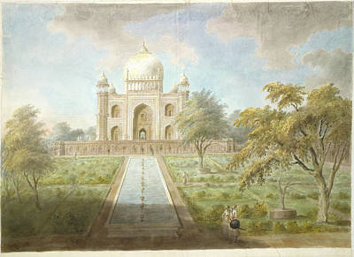 Tomb Photograph - Tomb Of Safdar Jang by British Library