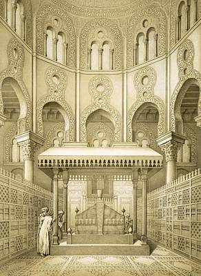 Arch Drawing - Tomb Of Sultan Qalaoun In Cairo by French School