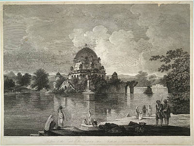 Illustration Technique Photograph - Tomb Of The Emperor Shere Shah by British Library