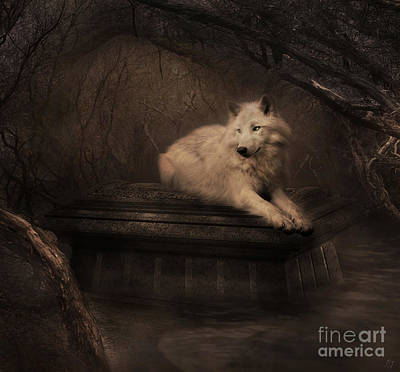 Digital Art - Tomb Of The Wolf by Lynn Jackson