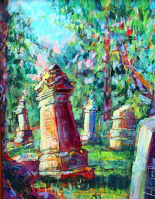 Painting - Tomb Stones by Les Leffingwell