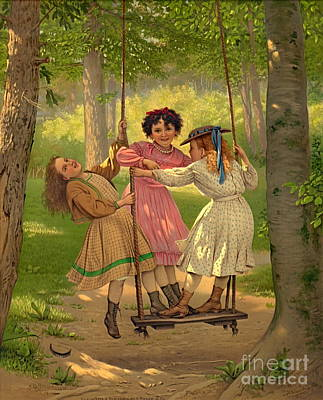 Tomboys 1868 Art Print