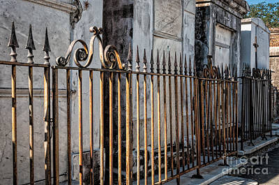 Photograph - Tombs And Iron Fences - Nola by Kathleen K Parker