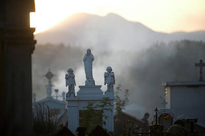 Dia De Los Muertos Photograph - Tombs In The Cemetery During Day by Chico Sanchez