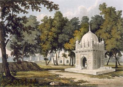 Tombs Near Etaya, From A Picturesque Art Print by Charles Ramus Forrest
