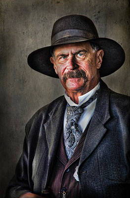 Photograph - Tombstone Gentleman by Barbara Manis