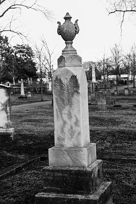 Photograph - Tombstone In Black And White by Robert Hebert