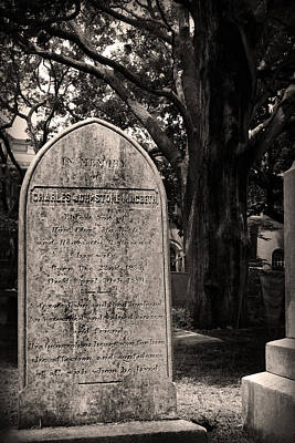 Photograph - Tombstone In Sepia by Kelly Hazel