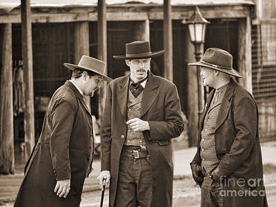 Photograph - Tombstone Meeting by Brenda Kean