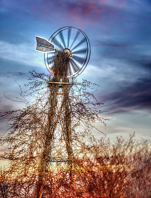 Photograph - Tombstone Ranch Windmill by Lisa Moore
