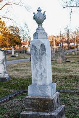 Photograph - Tombstone by Robert Hebert