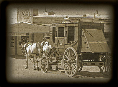 Photograph - Tombstone Stagecoach by Jeff Brunton