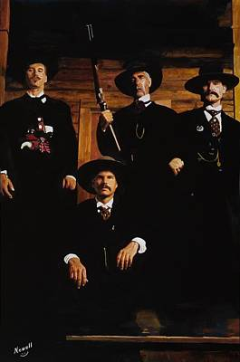 Wyatt Earp Painting - Tombstone -this Is A Painting Not A Photo by Peter Nowell