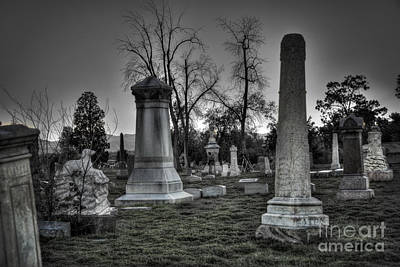 Tombstones And Tree Skeletons Art Print by Juli Scalzi