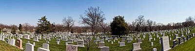 Tombstones In A Cemetery, Arlington Art Print by Panoramic Images