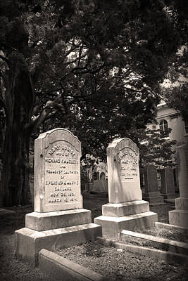 Photograph - Tombstones Of First Scots Presbyterian Church by Kelly Hazel