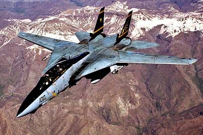 Photograph - Tomcat Over Iraq by Benjamin Yeager