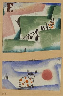 Tomcats Turf Art Print by Paul Klee