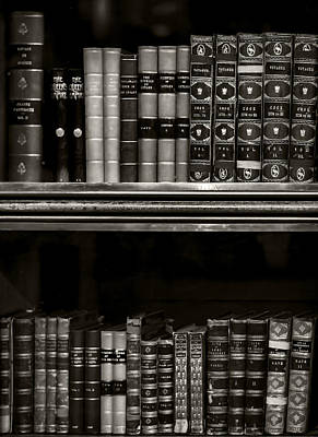 Photograph - Tomes Bw by Heather Applegate