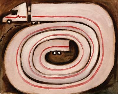 Painting - Tommervik Semi Snake Art Print by Tommervik