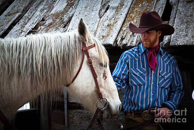 Horses Photograph - Tommy And Horse by Inge Johnsson