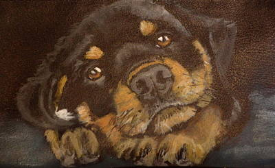 Rotty Painting - Tommy by Carol Russell
