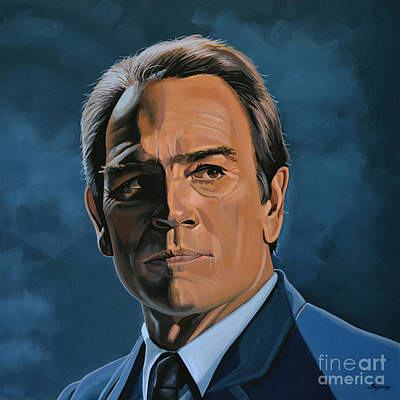 Black Face Painting - Tommy Lee Jones by Paul Meijering