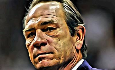 Painting - Tommy Lee Jones Portrait by Florian Rodarte