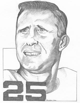Philadelphia Eagles Drawing - Tommy Mcdonald by Brian Condron