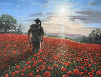 Poppies Art Painting - Tommy by Richard Harpum