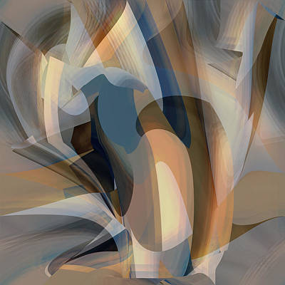 Digital Art - Tomorrow - Fine Art Digital Abstract by rd  Erickson