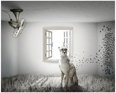 Cheetah Digital Art - Tomorrow by Vanessa Bates