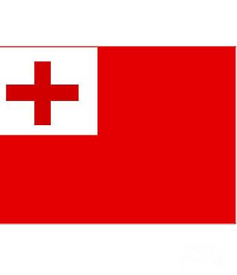 Tonga Digital Art - Tonga Flag by Frederick Holiday