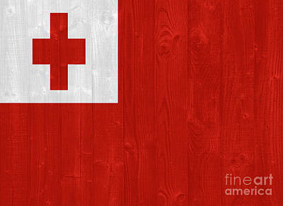 Tongan Photograph - Tonga Flag by Luis Alvarenga