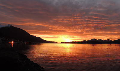 Art Print featuring the photograph Tongass Narrows Sunrise On 12/12/12 by Karen Horn