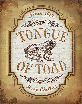 Halloween Sign Painting - Tongue Of Toad by Jennifer Pugh