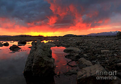 Mountians Photograph - Tongues Of Fire by Patrick Dillon