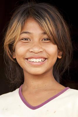 Photograph - Tonle Sap Village Girl by Jo Ann Tomaselli