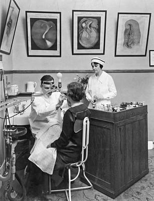 Tonsil Examination Print by Underwood Archives