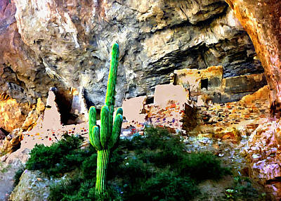 Photograph - Tonto National Monument by Bob and Nadine Johnston