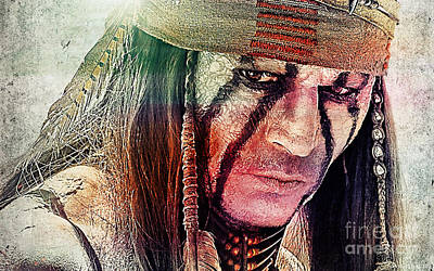 Johnny Depp Mixed Media - Tonto Painting by Marvin Blaine