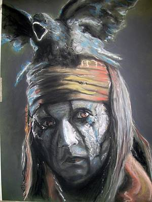 Art Print featuring the pastel Tonto by Peter Suhocke