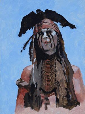 Lone Ranger Painting - Tonto by Robert Bissett