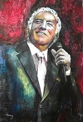 Frank Sinatra Mixed Media - Tony Bennett by Marcelo Neira