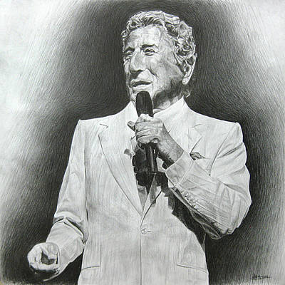 Drawing - Tony Bennett by Michael Morgan
