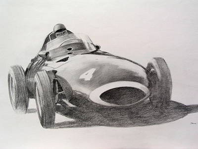 Drawing - Tony Brooks Vanwall by Steve Jones