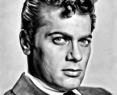 Painting - Tony Curtis Portrait by Florian Rodarte